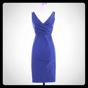 J. Crew Sara Blue Silk Taffeta Dress